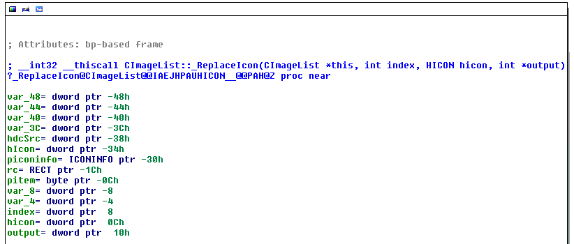 CImageList::_ReplaceIcon function
