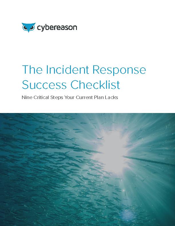 The Incident Response Success Checklist