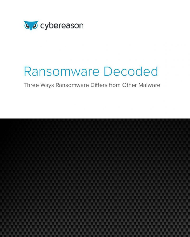 Ransomware Decoded: Three Ways Ransomware Differs from Other Malware