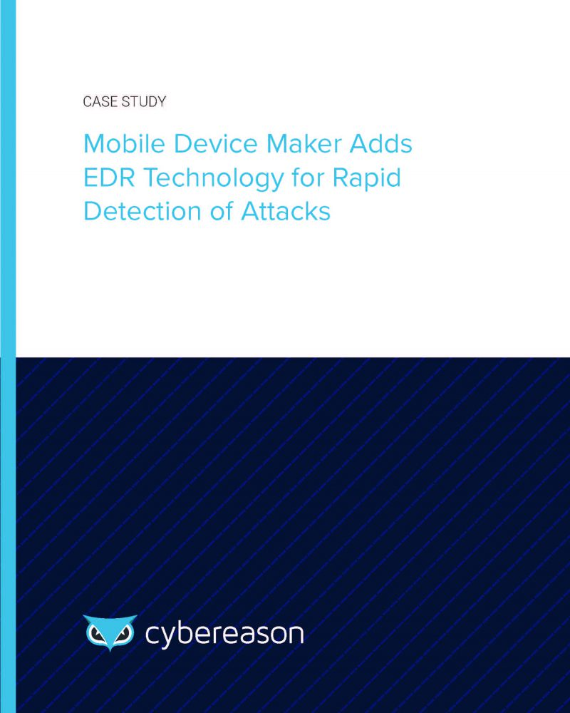 Mobile Device Maker Adds EDR Technology for Rapid Detection of Attacks