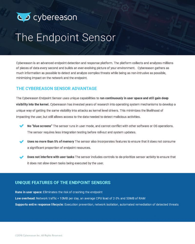 The Endpoint Sensor