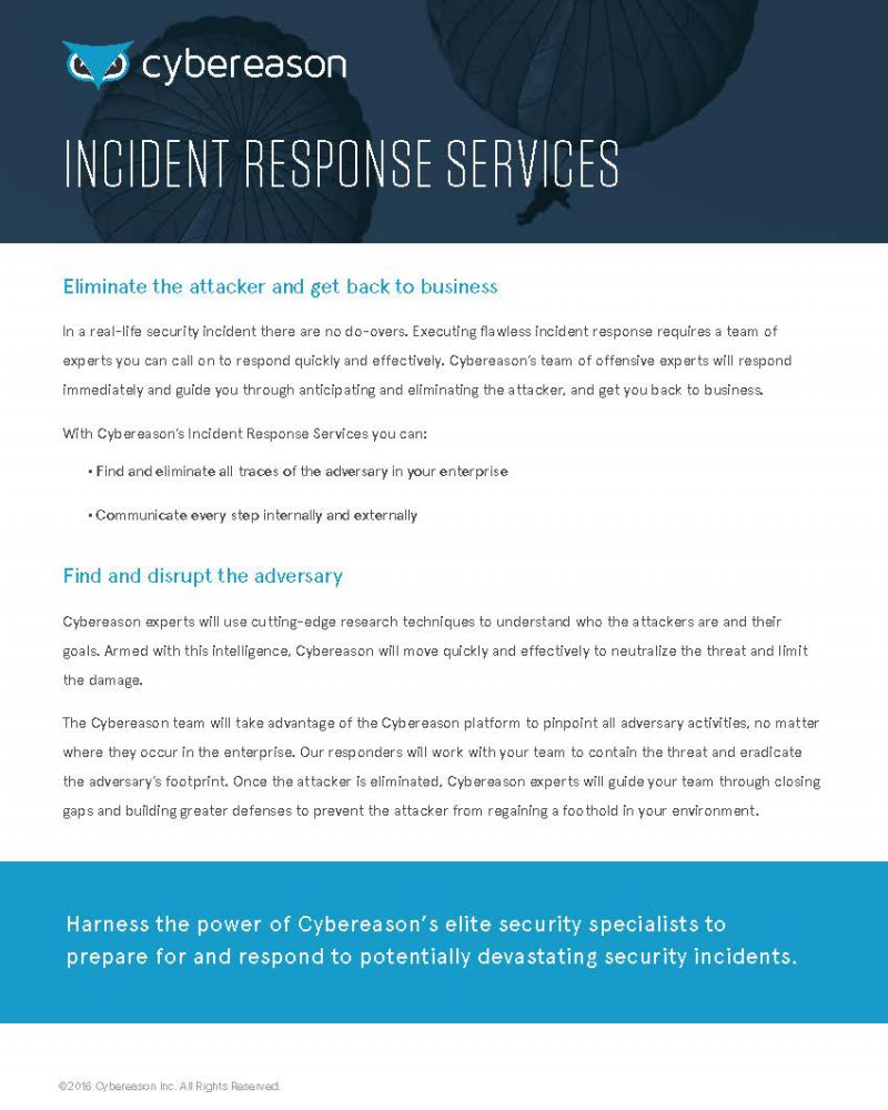Incident Response Services