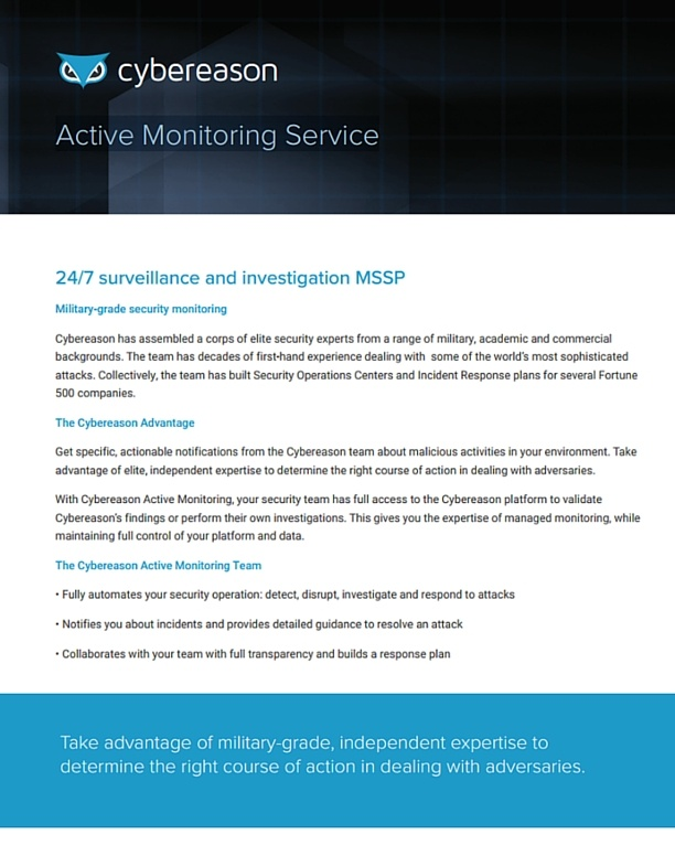 Active Monitoring Service