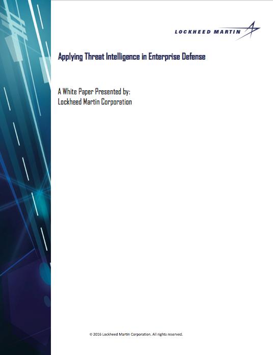 Applying Threat Intelligence in Enterprise Defense