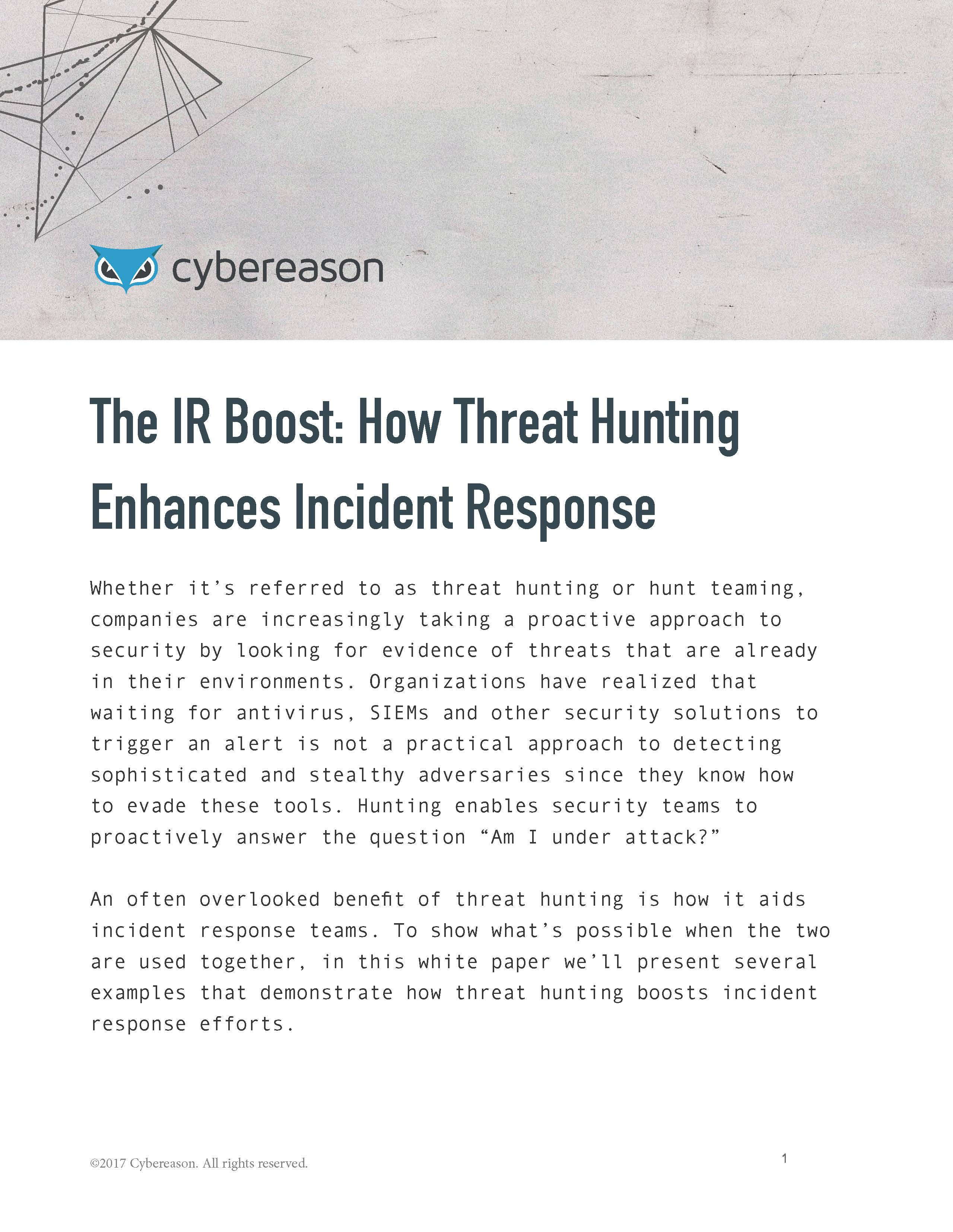 The IR boost: How threat hunting enhances incident response