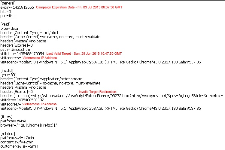 Sample of the infection server validation script from a Vietnamese attack campaign.