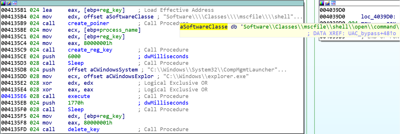 Sodinokibi / REvil creating the registry key and launching CompMgmtLauncher.exe