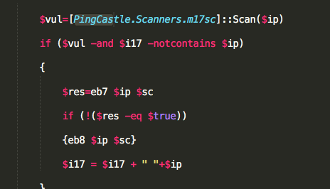 PingCastle scanner