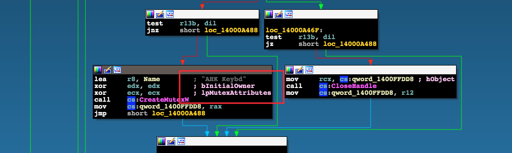 xref example from explorers.exe