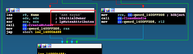xref example from svhost.exe