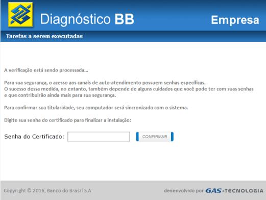 Banco do Brasil message