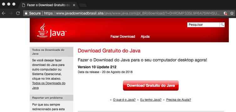 Fake Java site