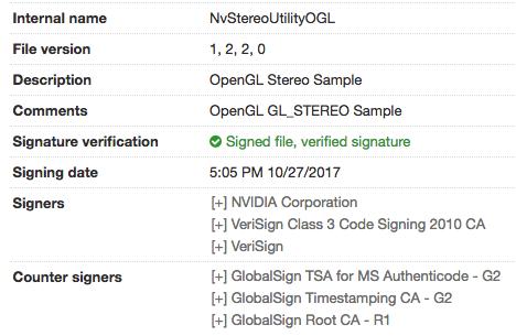 authentic signed NVIDIA binary