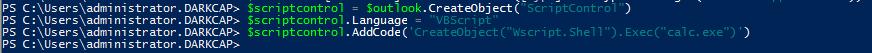 ScriptControl COM string