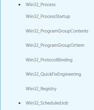 WMI contains classes representing elements such as the system registry, processes, threads and hardware components.