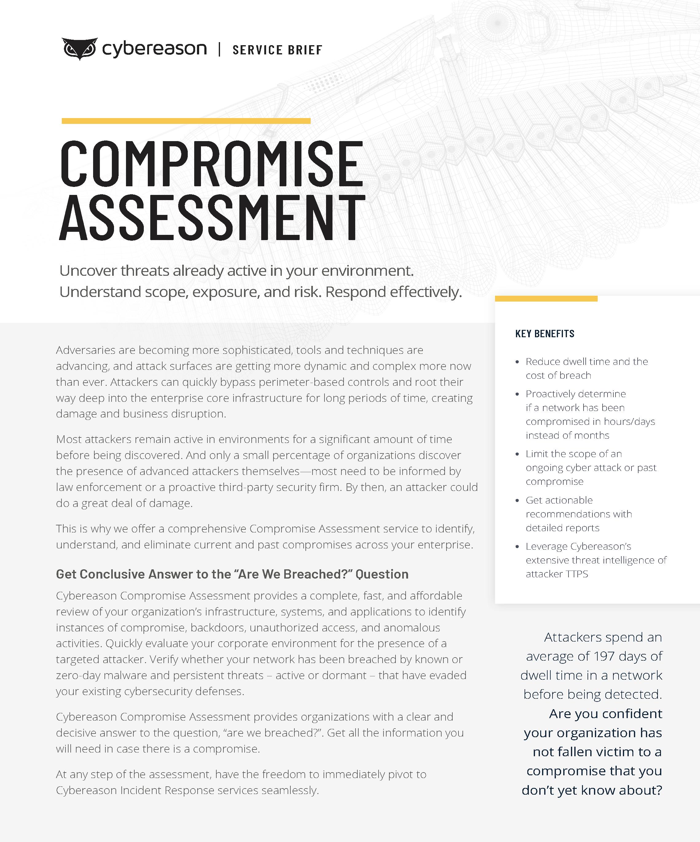 Compromise Assessment Datasheet