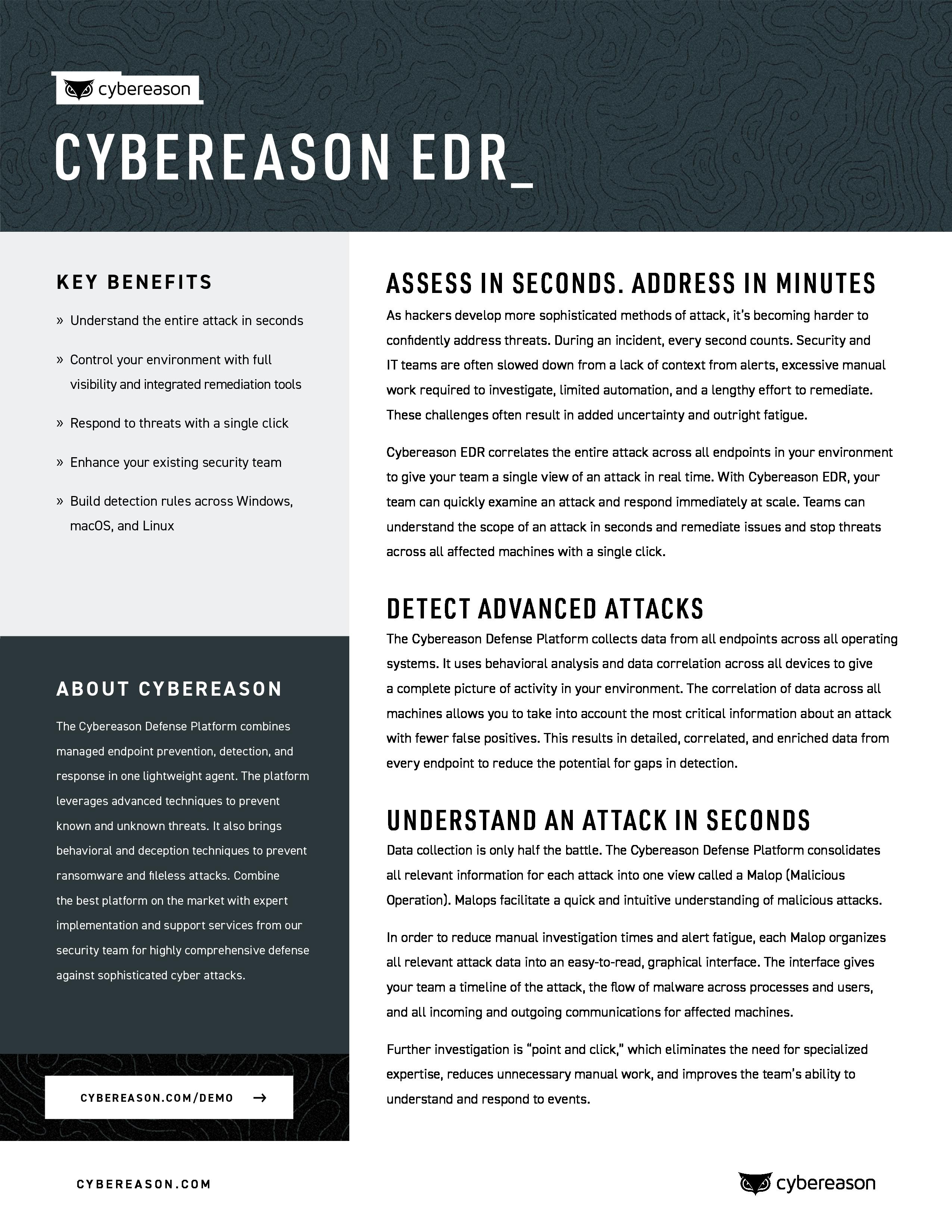 Endpoint Detection & Response Datasheet