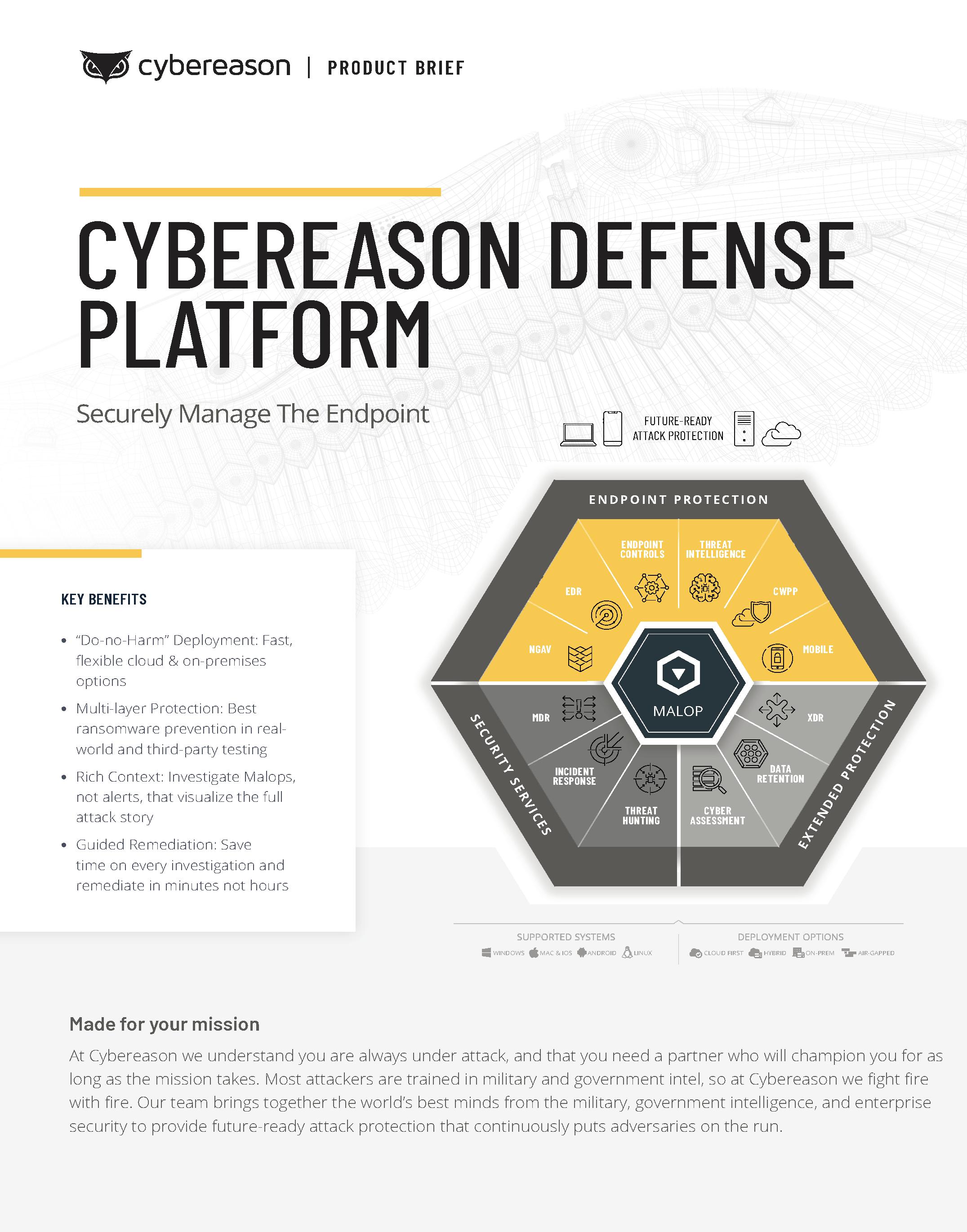 Cybereason Defense Platform Datasheet
