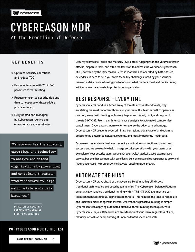 Managed Detection & Response Datasheet
