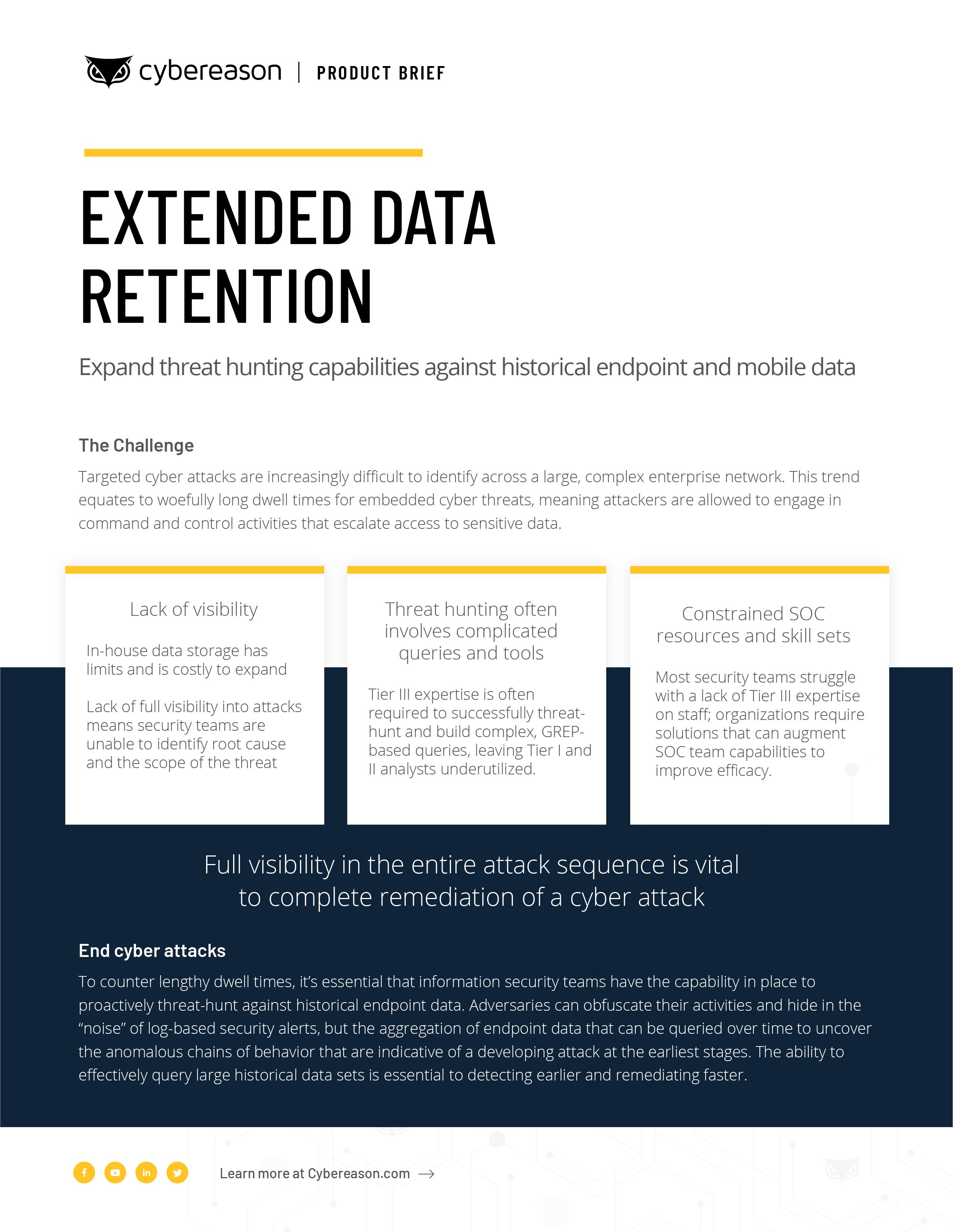 Extended Data Retention Datasheet